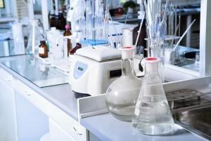 Chemical laboratory background. Laboratory concept.