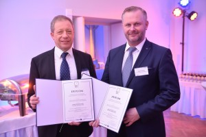 Grupa Azoty ZAK S.A. Chairman of the Board Mateusz Gramza and ICSO Director Andrzej Krueger received the diploma