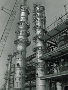 Ustawienie kolumny rafinacyjnej oktanolu, 1984 rok