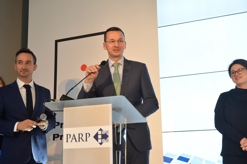 Podczas uroczystej galii, Mateusz Morawiecki, Wiceprezes Rady Ministrów, Minister Rozwoju i Finansów, życzył polskim przedsiębiorcom innowacyjnych produktów wybiegających w przyszłość